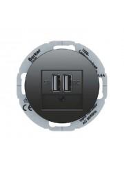 Gniazdo USB ładowania czarne