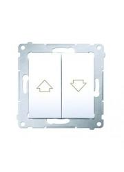 Przycisk żaluzjowy 10 AX biały