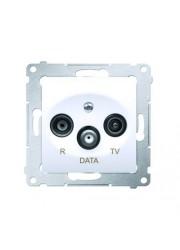 Gniazdo R-TV-DATA białe