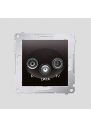 Gniazdo R-TV-DATA antracyt