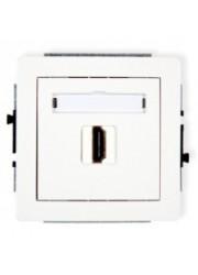 Gniazdo pojedyncze HDMI białe