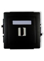 Gniazdo pojedyncze HDMI czarne