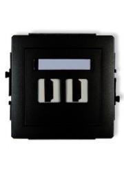 Gniazdo podwójne HDMI czarne