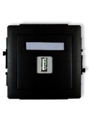 Gniazdo pojedyncze USB czarne