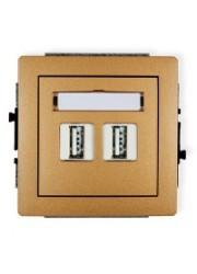 Gniazdo podwójne USB złoty...