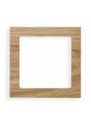 Ramka pojedyncza drewniana dąb