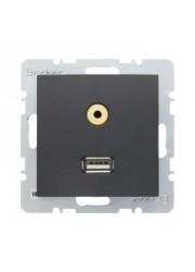 Gniazdo USB/3.5 mm audio...