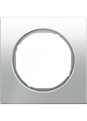 Ramka pojedyncza szklana biała