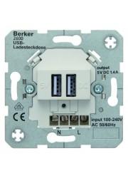 Gniazdo USB ładowania białe